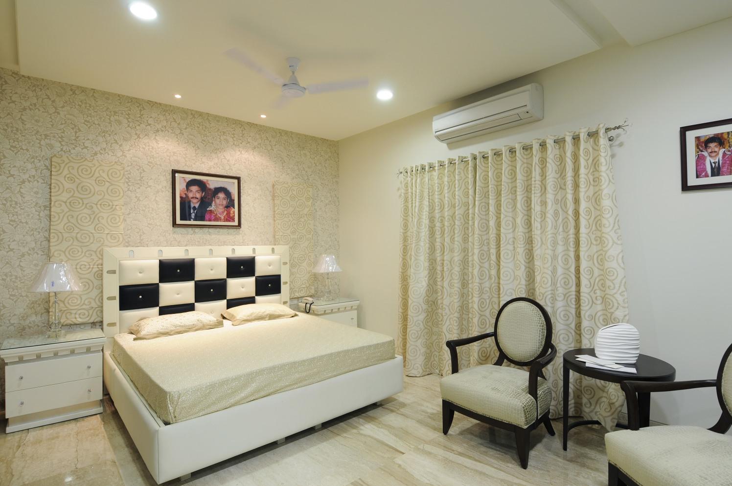Bedroom With Amazing Wall Art by Nandigam Harish Bedroom Modern | Interior Design Photos & Ideas