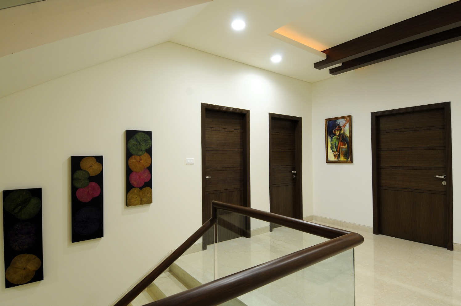 Staircase With Marble Flooring by Nandigam Harish Indoor-spaces Modern | Interior Design Photos & Ideas