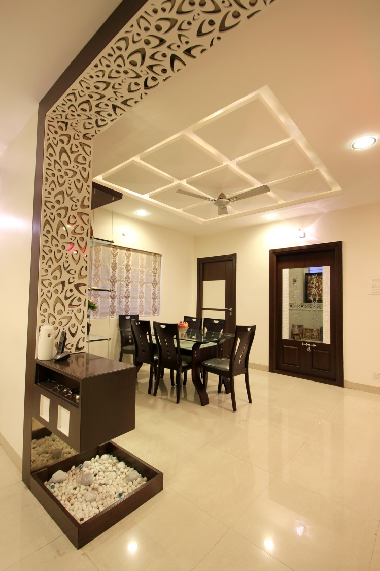 Dining Room With Pale Shade Interior by Nandigam Harish Dining-room Modern | Interior Design Photos & Ideas