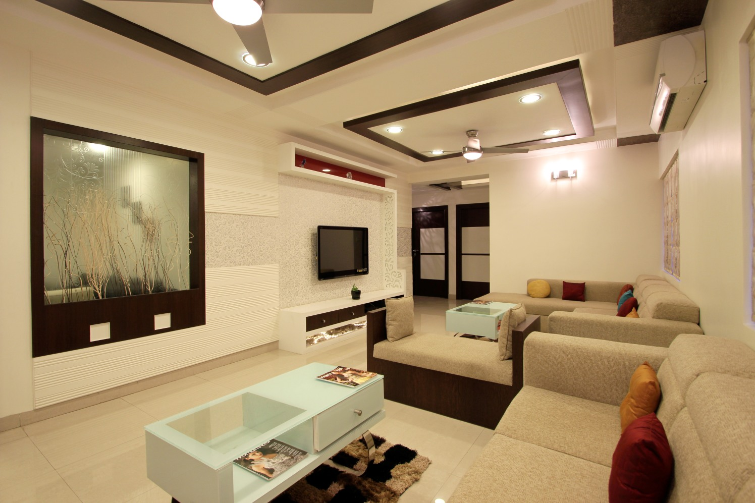 Living Room With Modern False Ceiling by Nandigam Harish Living-room Modern | Interior Design Photos & Ideas