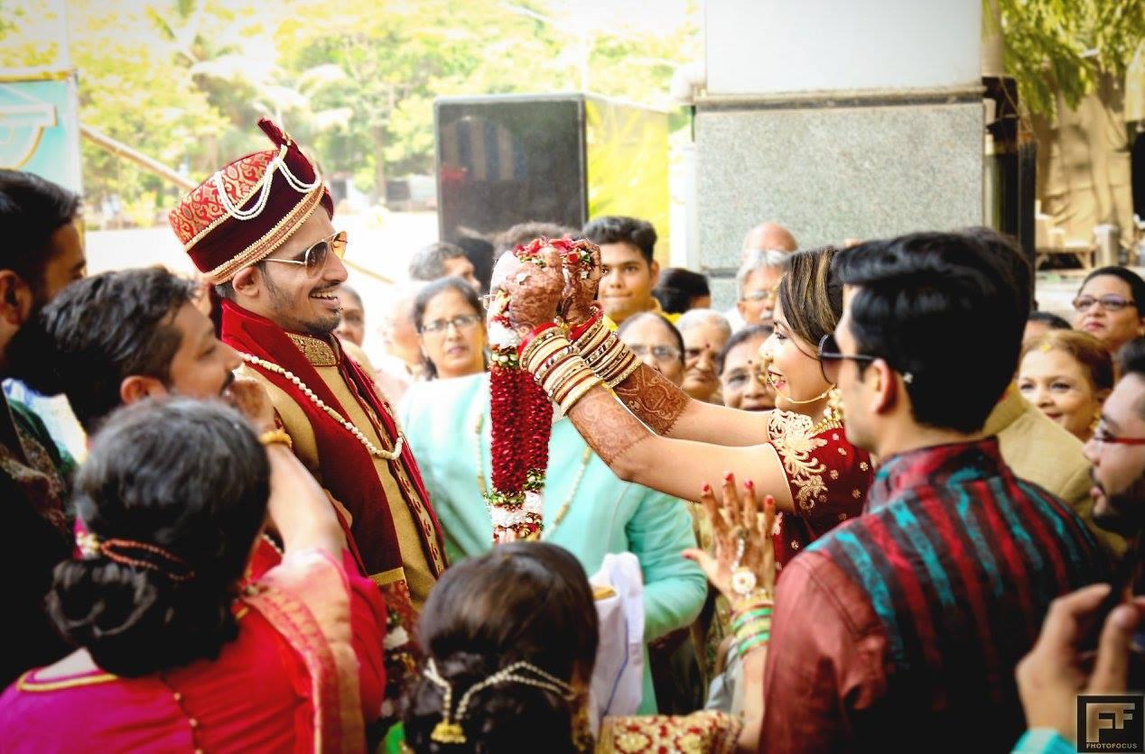 Joys of a varmala! by Fhotofocus Photography Wedding-photography   Weddings Photos & Ideas