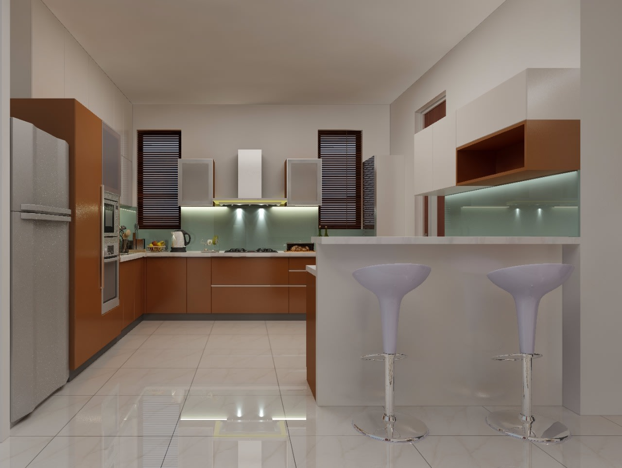 Kitchen on the go by Shwetha Modern | Interior Design Photos & Ideas