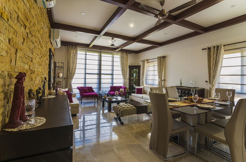 Modern Artistic Living Room by Rahul Sharma Modern | Interior Design Photos & Ideas