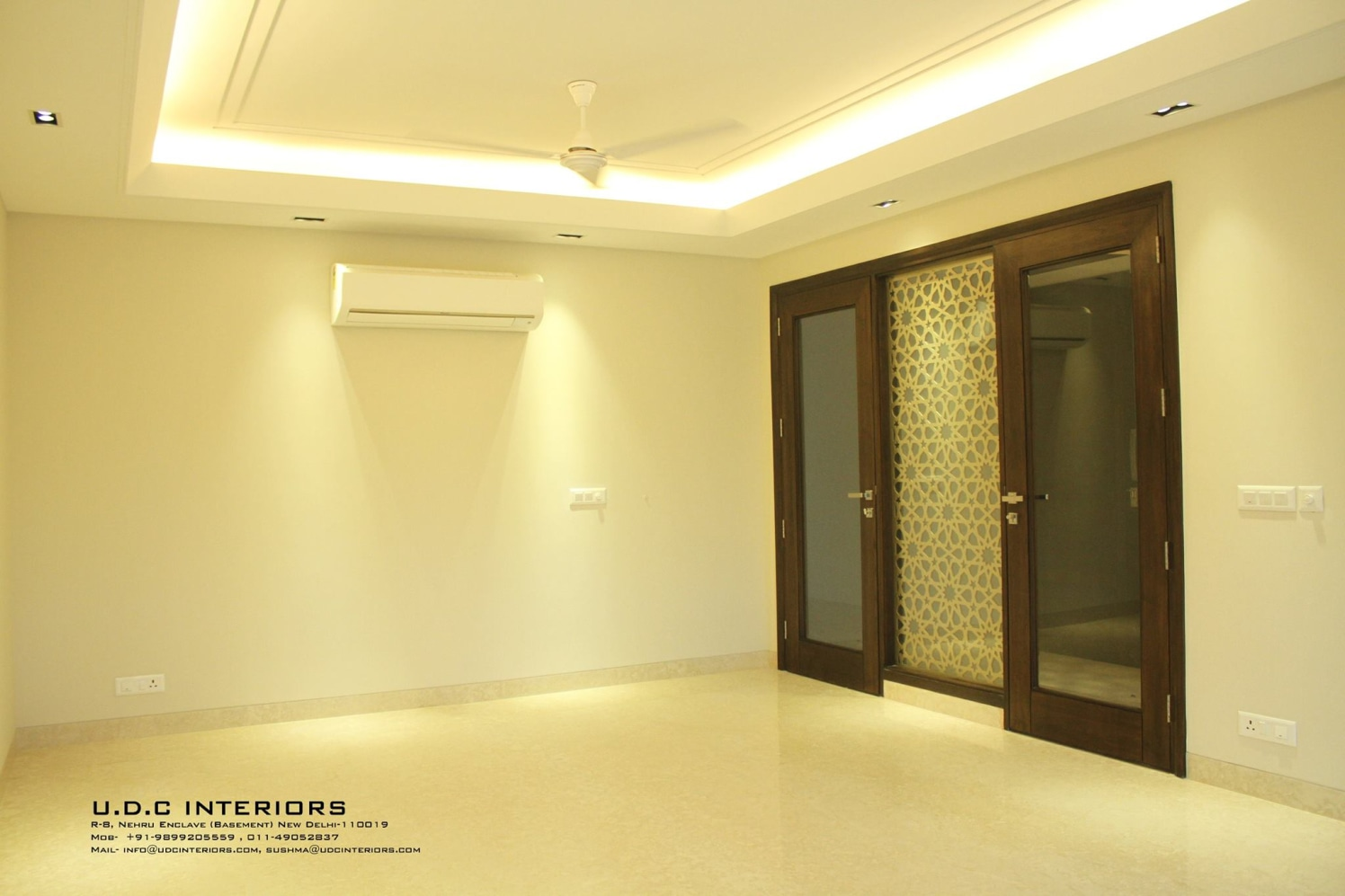 Cosmic Latte Living Space by UDC Interiors Living-room Minimalistic | Interior Design Photos & Ideas