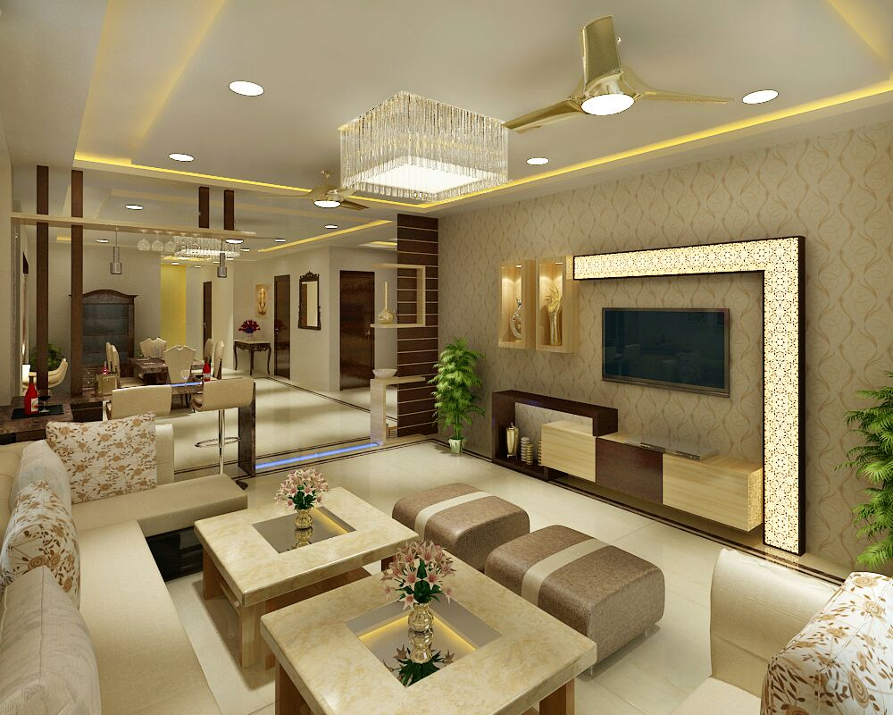 Dining and living area by Jaideep Mandal Living-room Contemporary | Interior Design Photos & Ideas