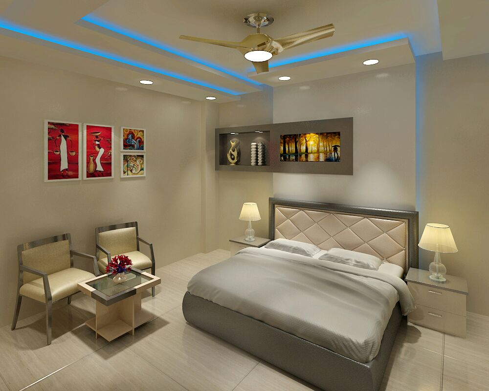 A modern look to your bedroom by Jaideep Mandal Bedroom Modern | Interior Design Photos & Ideas