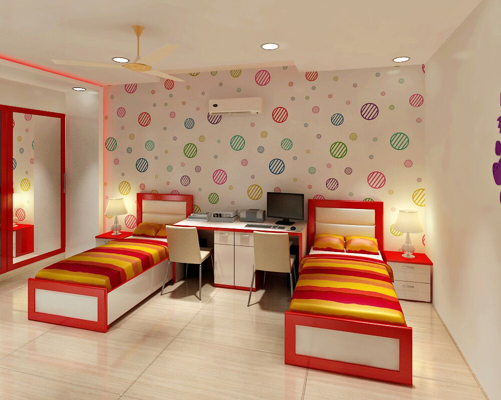 Kids Bedroom by Jaideep Mandal Bedroom Modern | Interior Design Photos & Ideas
