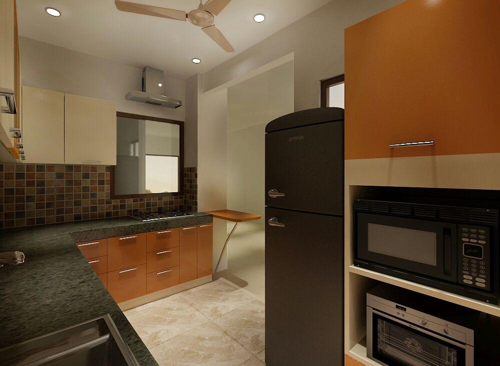 Simple kitchen by Jaideep Mandal Modular-kitchen Contemporary | Interior Design Photos & Ideas
