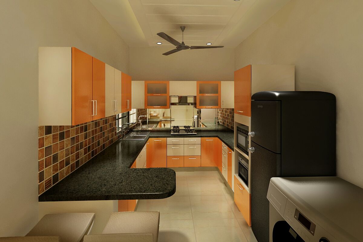 Kitchen by Jaideep Mandal Modular-kitchen Contemporary | Interior Design Photos & Ideas