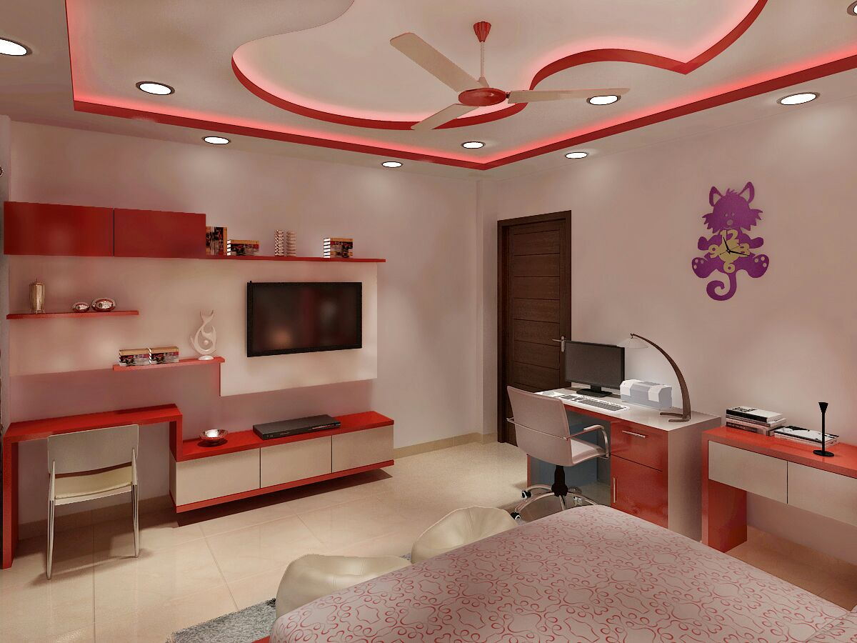 Kids Room with a study by Jaideep Mandal Bedroom Modern | Interior Design Photos & Ideas