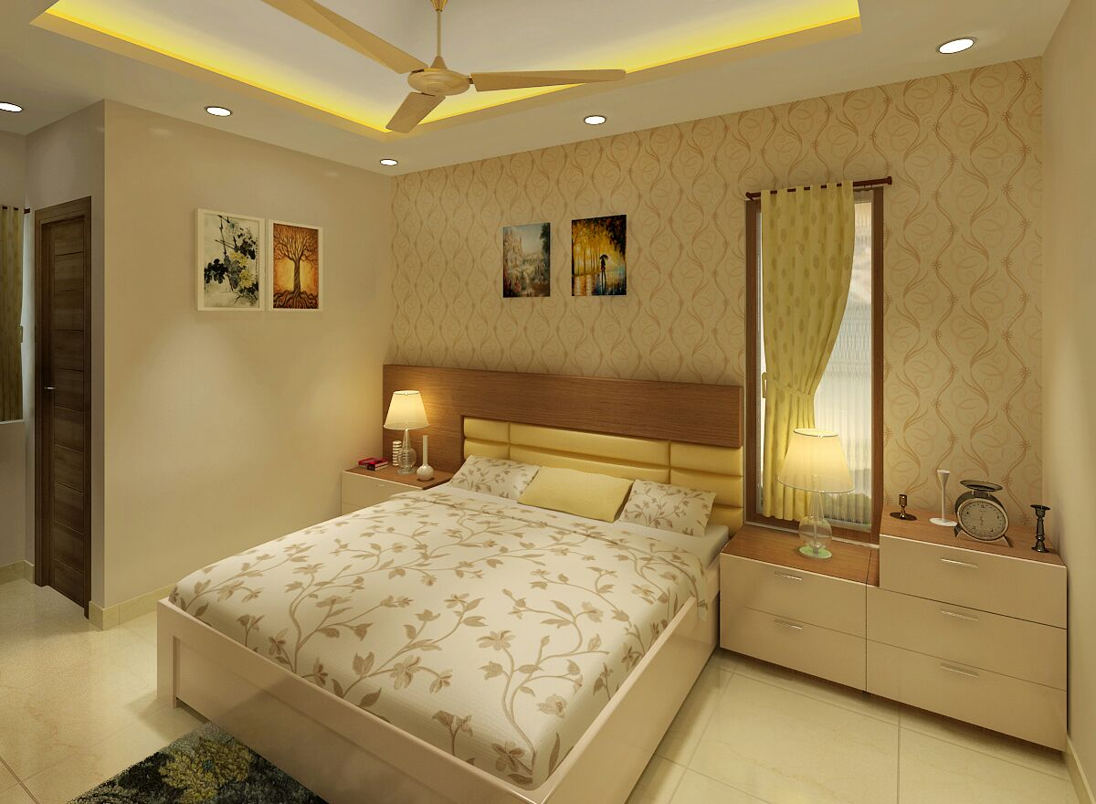 Bedroom with maturity by Jaideep Mandal Bedroom Modern | Interior Design Photos & Ideas