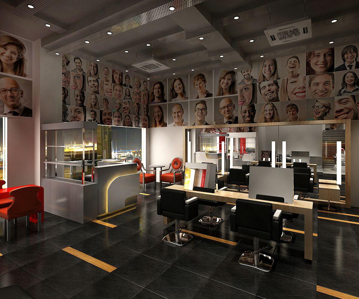 Salon - Open Seating by Jaideep Mandal Modern | Interior Design Photos & Ideas