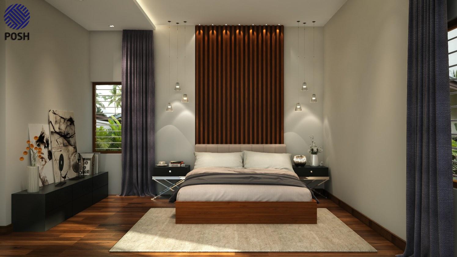 Contemporary bedroom with wooden flooring by Priyanka Rai Bedroom Contemporary | Interior Design Photos & Ideas