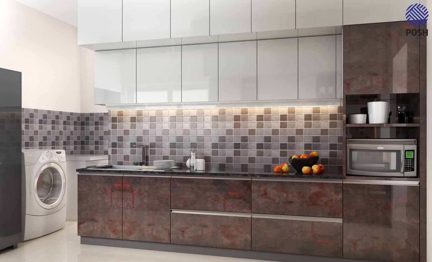 Modern modular kitchen by Priyanka Rai Modular-kitchen Modern | Interior Design Photos & Ideas
