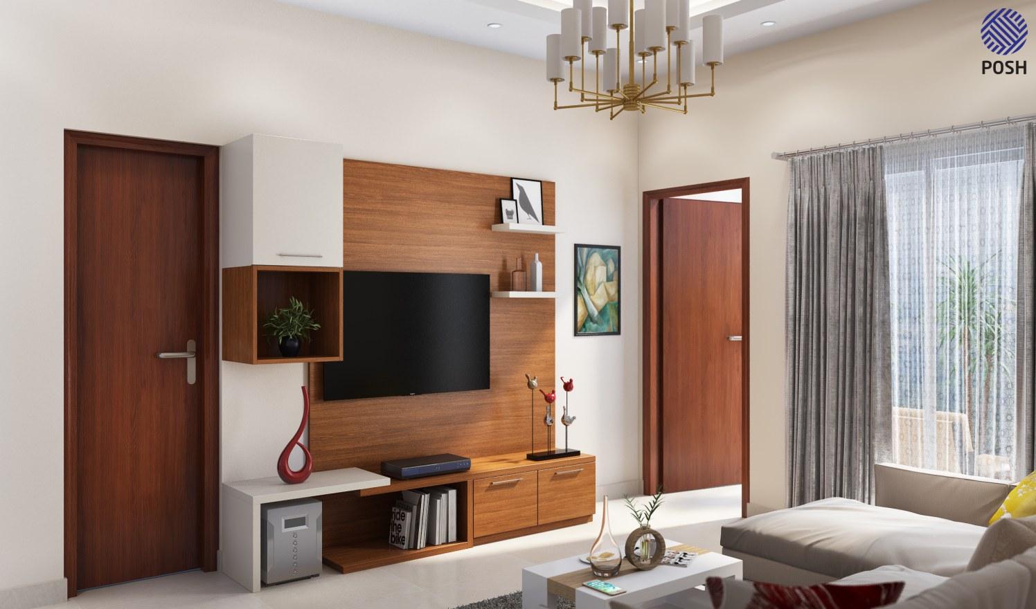 Modern living room with tv by Priyanka Rai Living-room Modern | Interior Design Photos & Ideas