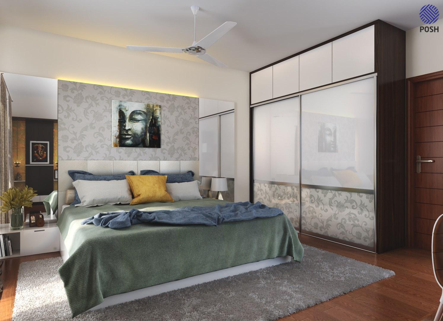 Contemporary bedroom with wardrobe by Priyanka Rai Bedroom Contemporary | Interior Design Photos & Ideas