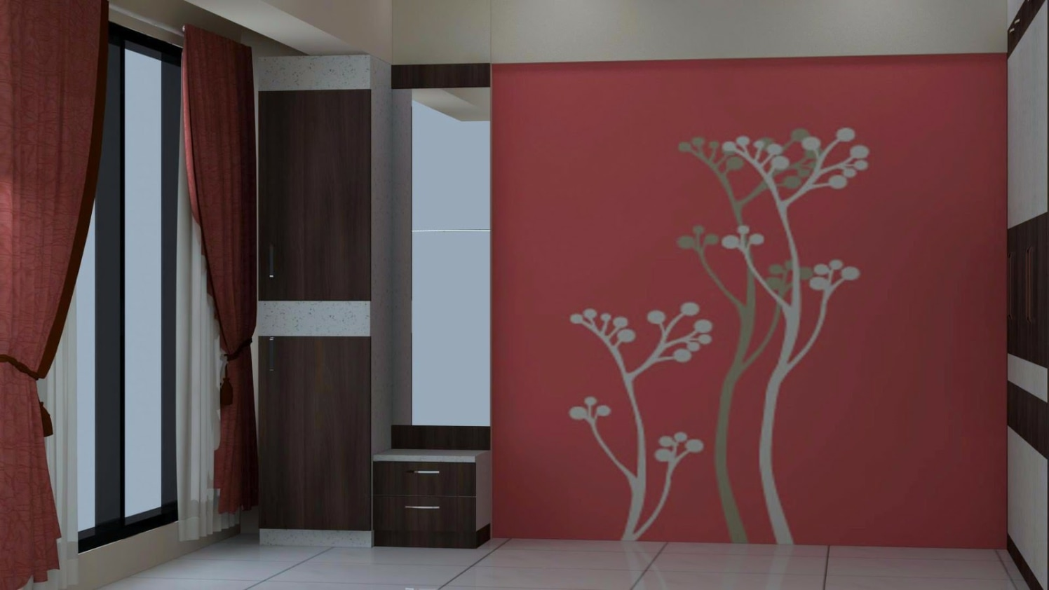 wallpaper with trees by Talha Naim Momin Modern | Interior Design Photos & Ideas