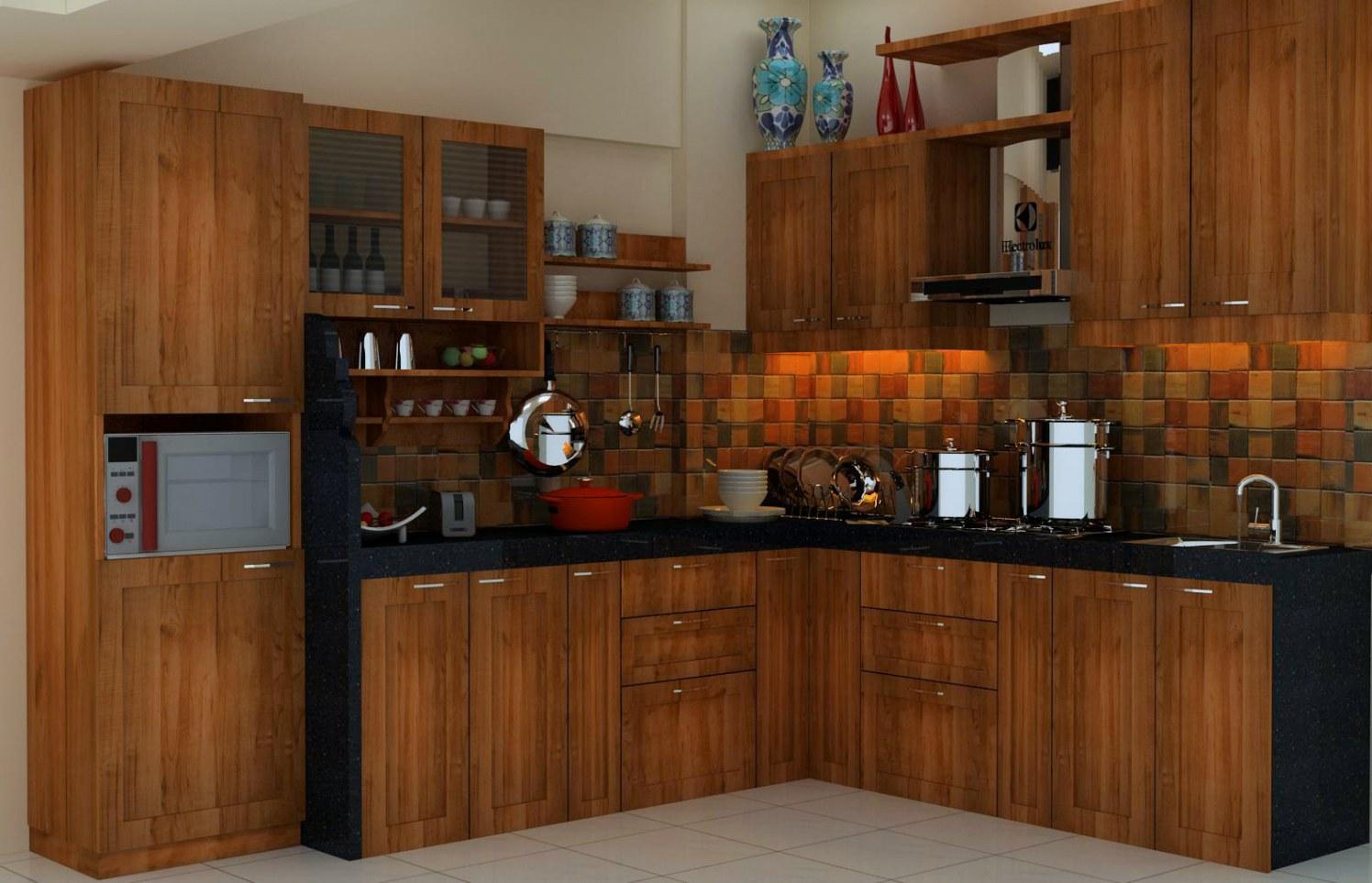 Modern wooden kitchen by Talha Naim Momin Contemporary | Interior Design Photos & Ideas