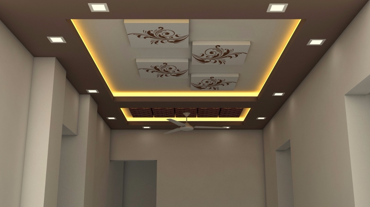Ceiling with paintings by Talha Naim Momin Modern | Interior Design Photos & Ideas
