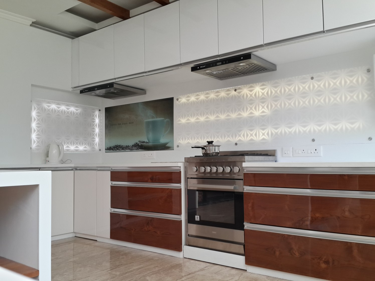 kitchen With Pale Shade Modular Cabinets by Prashant Ghosh Modular-kitchen Modern | Interior Design Photos & Ideas