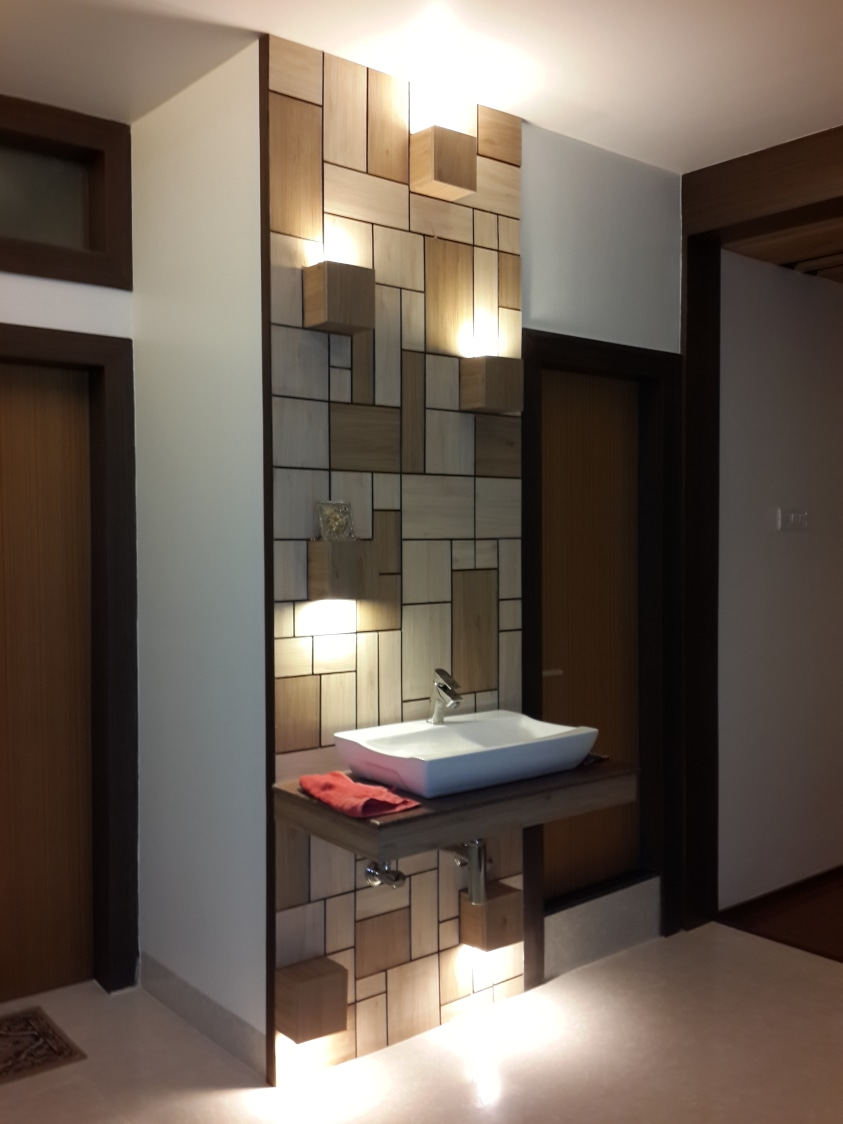 Modern Bathroom With Washbasin by Prashant Ghosh Bathroom Modern | Interior Design Photos & Ideas