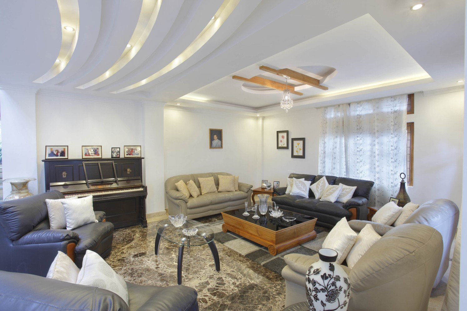 Living Room With Bulky Furniture by Prashant Ghosh Living-room Contemporary | Interior Design Photos & Ideas