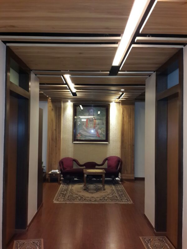 Hallway With Wooden Flooring by Prashant Ghosh Indoor-spaces Contemporary | Interior Design Photos & Ideas