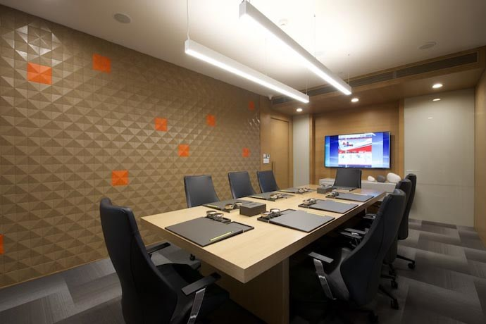 Formal Design Conference Room by Gocosy.com Contemporary | Interior Design Photos & Ideas
