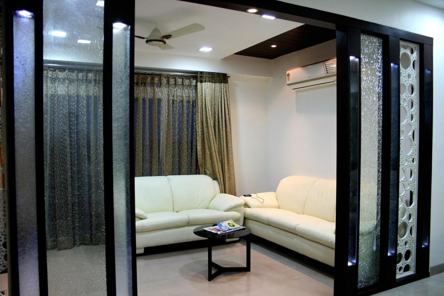Beautiful white sofa by Smita Modern | Interior Design Photos & Ideas