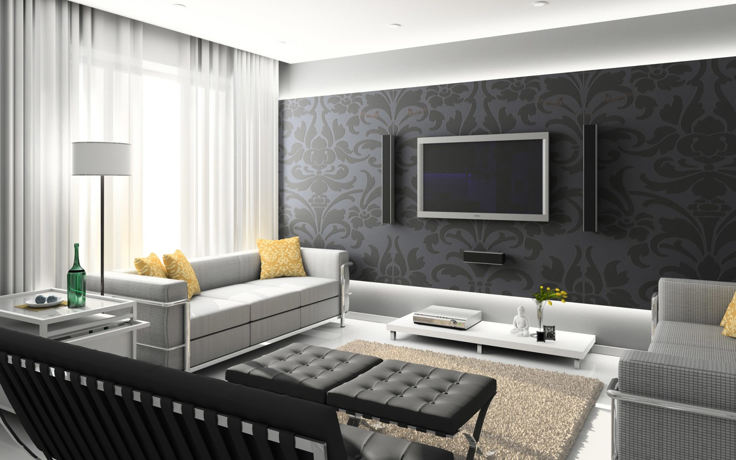 Shades of grey by Priya Shah(test) Modern | Interior Design Photos & Ideas
