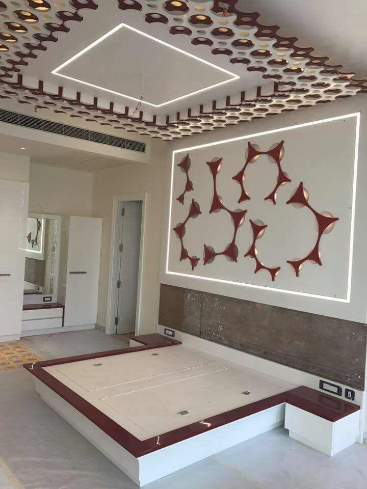 Cream and crimson by Rohit Singh Contemporary | Interior Design Photos & Ideas