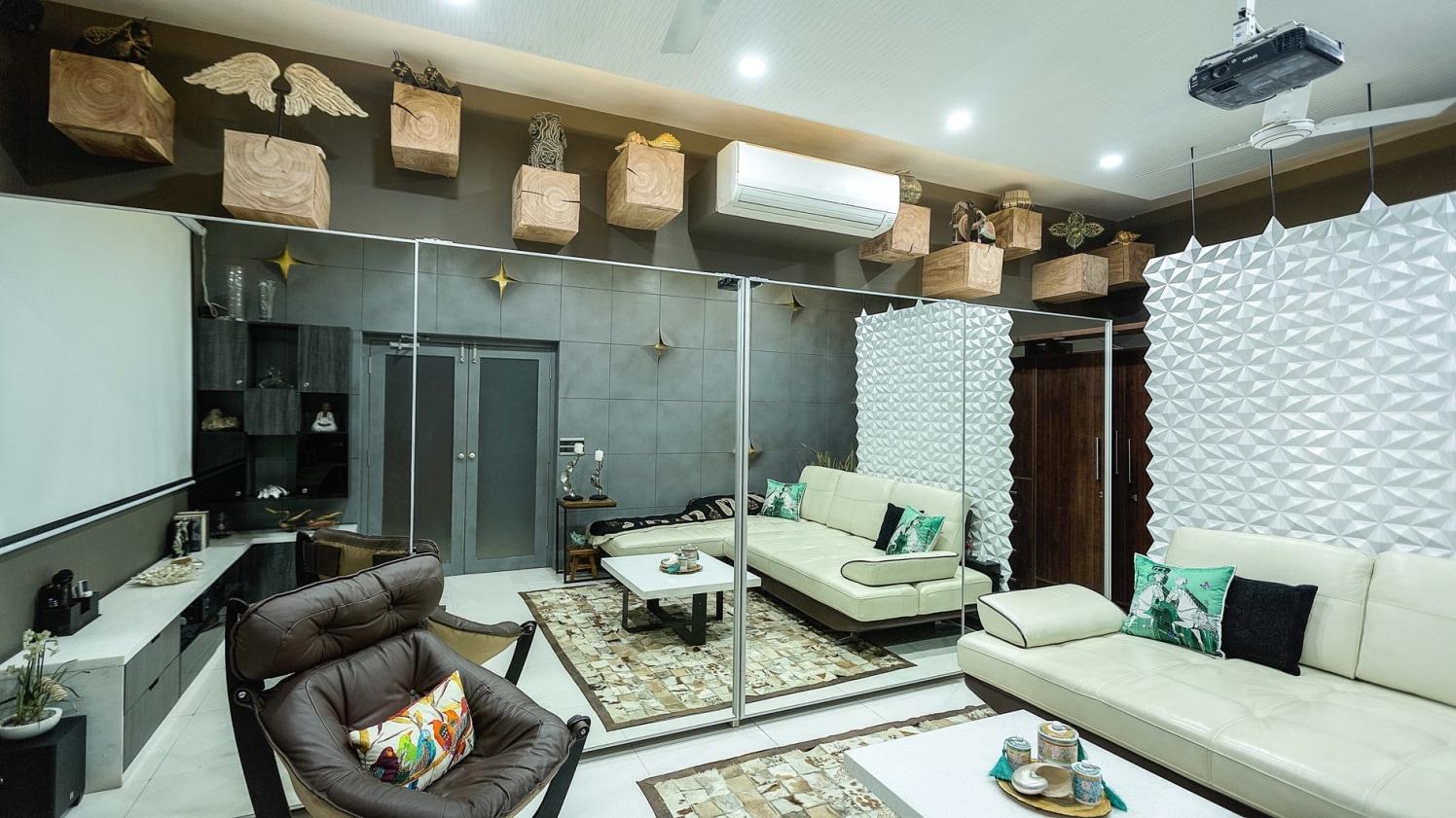 Luxurious Living Room by Swati Jain Modern | Interior Design Photos & Ideas