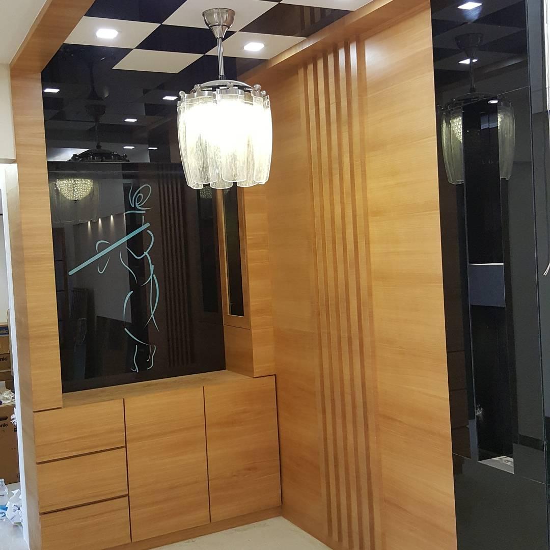 Modern Hallway with Krishna by Rehan Khan Contemporary | Interior Design Photos & Ideas