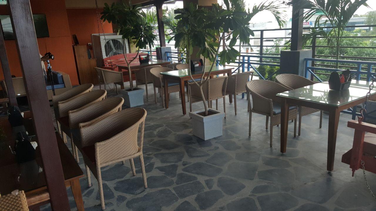 Open Cafe Balcony by Rehan Khan