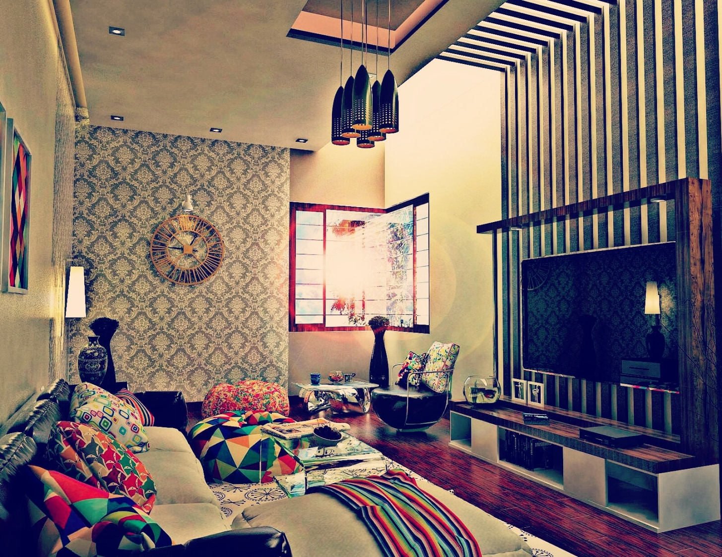 Joyous Living Room by Sachin Kulshreshtha