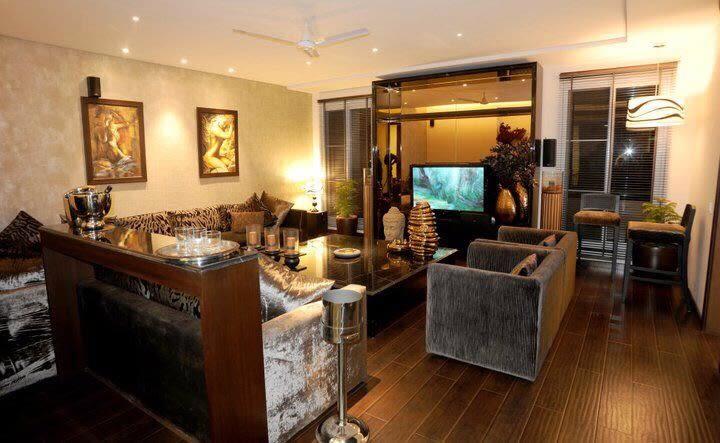 Bedazzling living area by Karan Kalra Modern | Interior Design Photos & Ideas