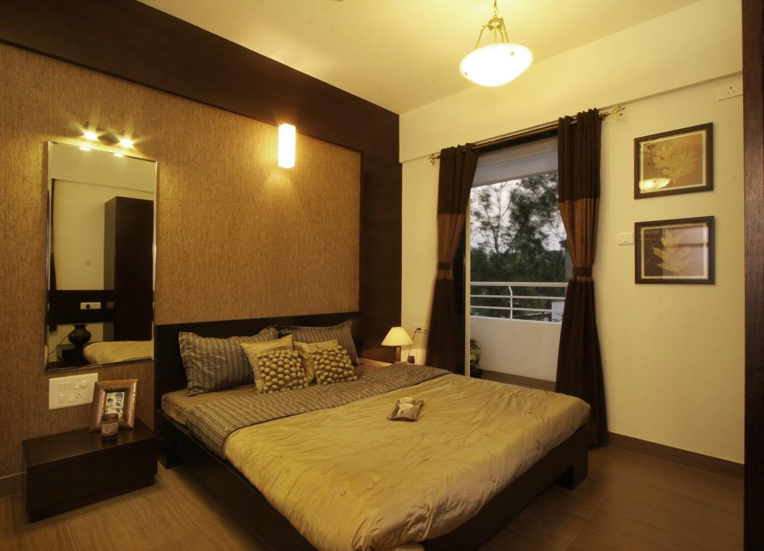 Chocolaty Bedroom by Harshila Shreeram Talasila Modern   Interior Design Photos & Ideas