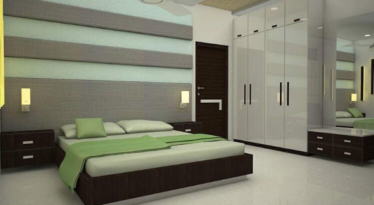 Perfect bedroom in green by Ar. Nitin Sharma Contemporary | Interior Design Photos & Ideas