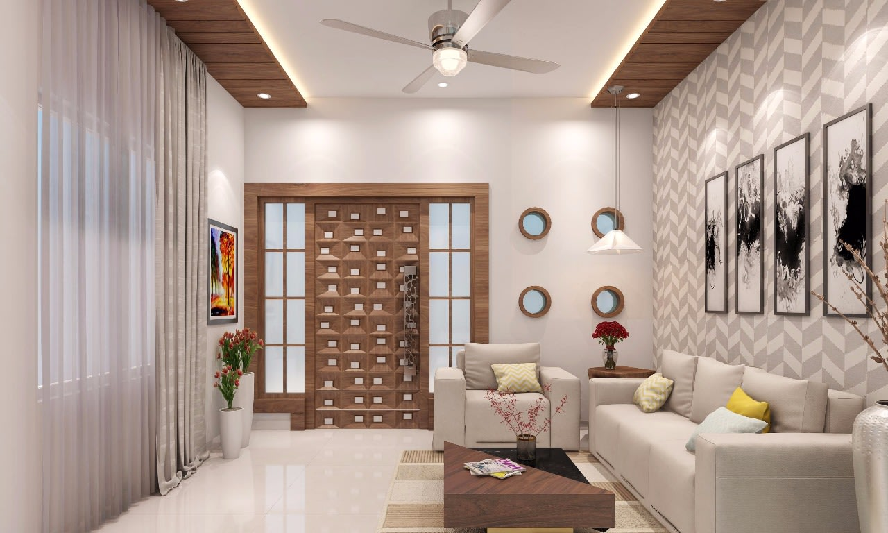 Monochromatic happiness by Narender Reddy Contemporary | Interior Design Photos & Ideas