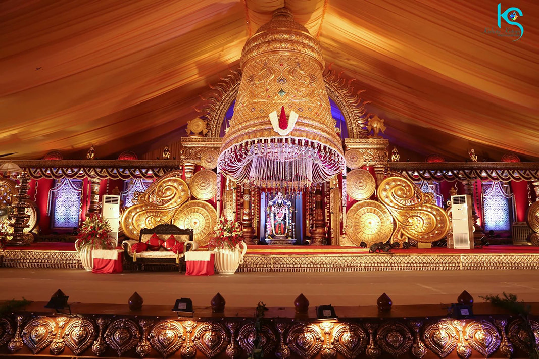 Stunning South Indian Wedding Decor by Kishore Kotum Wedding-decor | Weddings Photos & Ideas