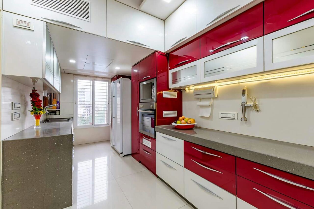Red and White by Sarika Kulkarni Contemporary | Interior Design Photos & Ideas