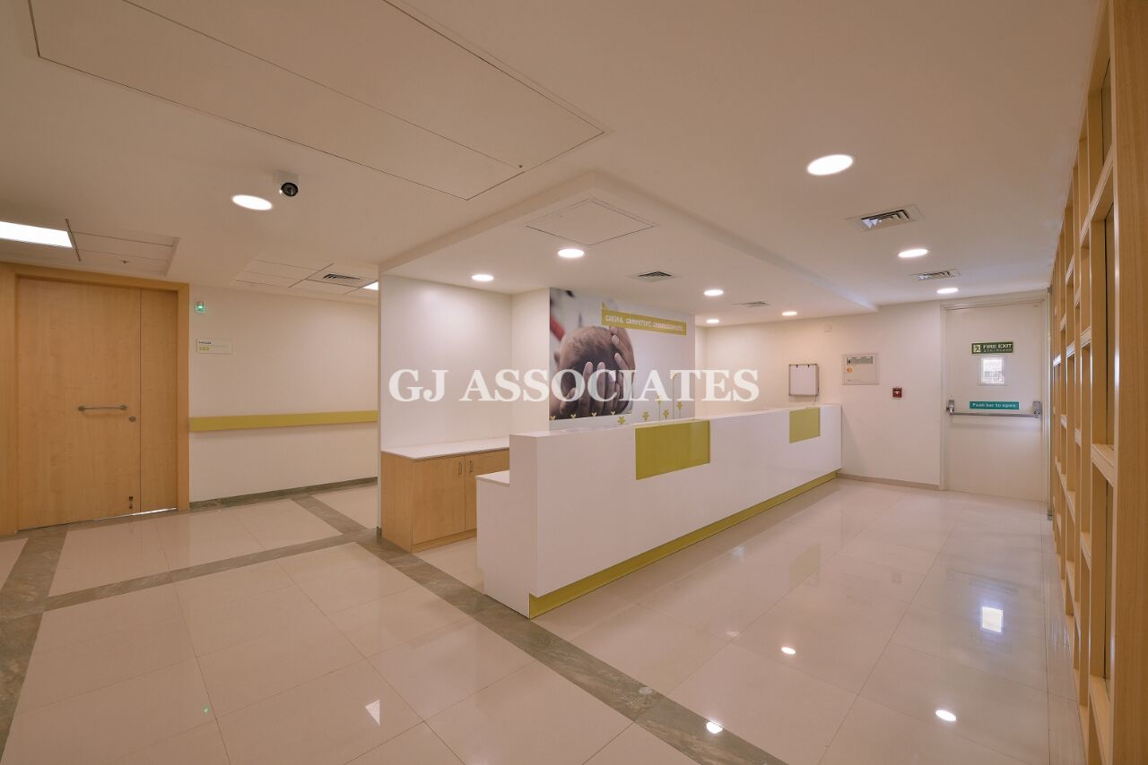 Well-Lit Hospital Reception Area With White Marble Flooring by Gaurang Jawle Modern | Interior Design Photos & Ideas