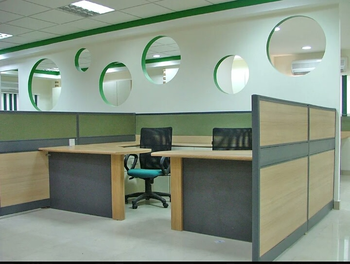 Patterned walls for office cubicles by yatin Aneja Contemporary | Interior Design Photos & Ideas