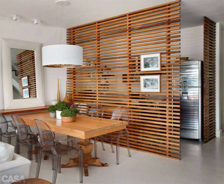 Honeydew White Dining Room With Wooden Stripes by Live Fabulous Dining-room Contemporary | Interior Design Photos & Ideas