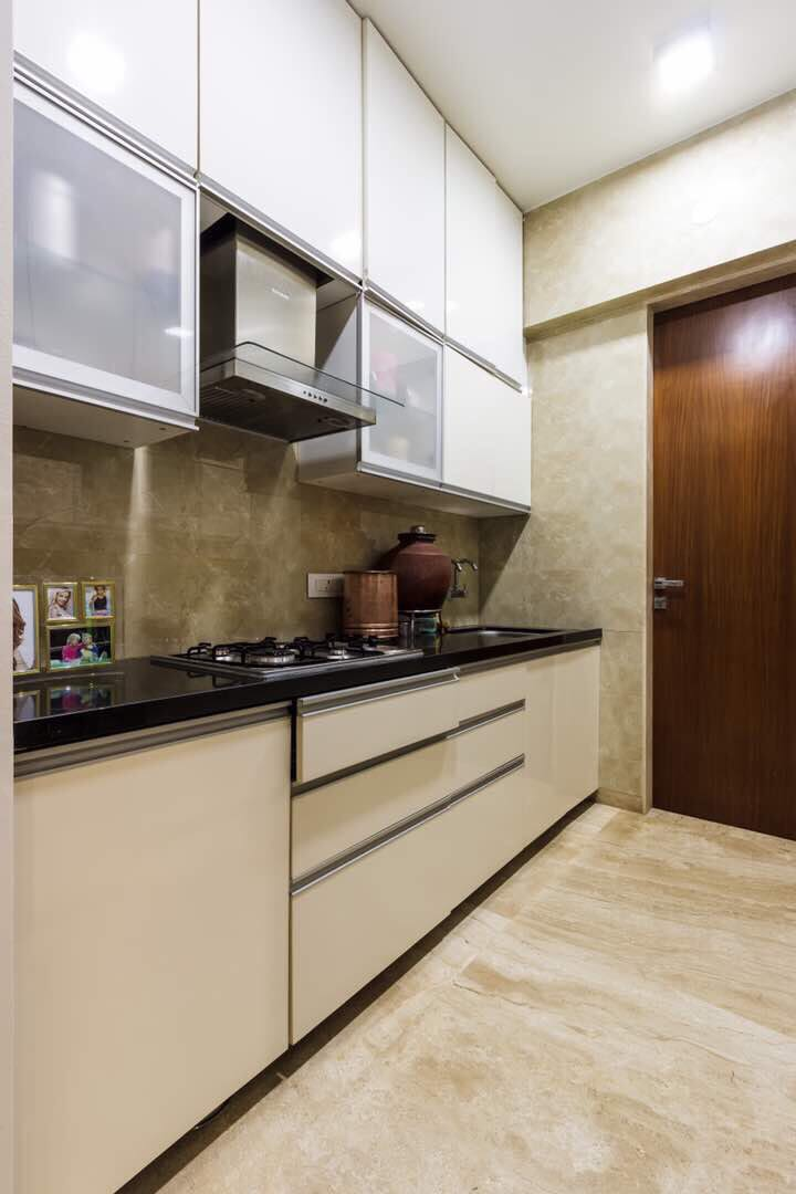 Brown Parallel Modular Kitchen by Shivani Dangat
