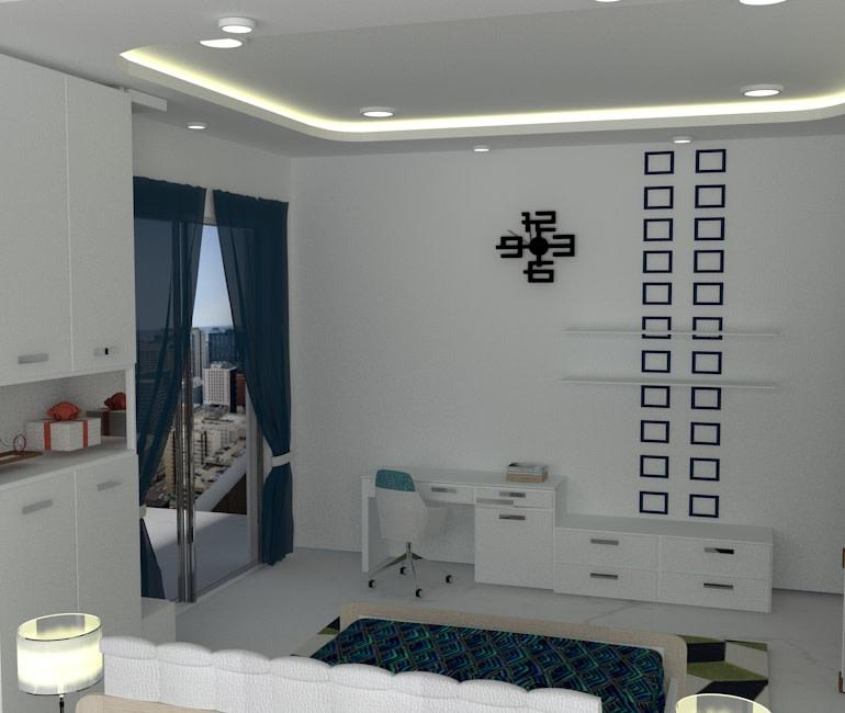 A fit for all Bedroom by Shweta Gulashan Sharma Modern | Interior Design Photos & Ideas