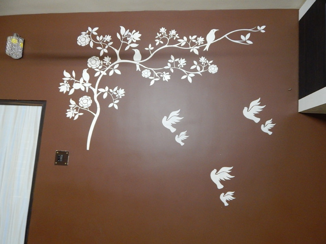Birds on the wall by Manik Chowdhury Bedroom Contemporary | Interior Design Photos & Ideas
