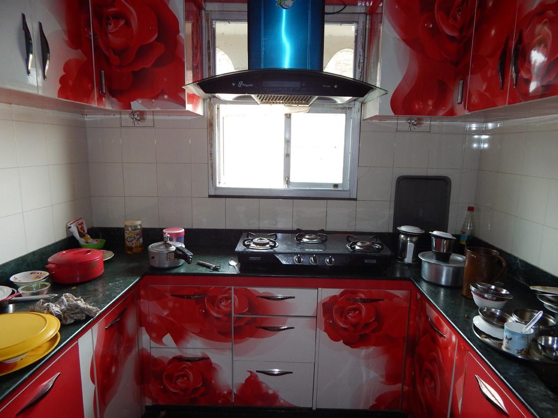 The Red Kitchen by Manik Chowdhury Modular-kitchen Contemporary | Interior Design Photos & Ideas