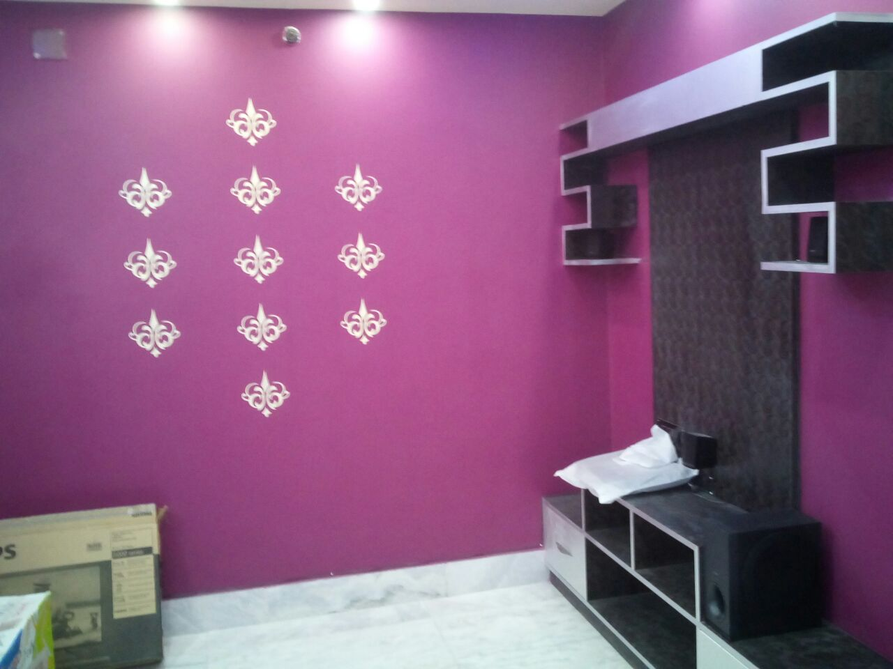 The Purple Roomq by Manik Chowdhury Living-room Contemporary | Interior Design Photos & Ideas