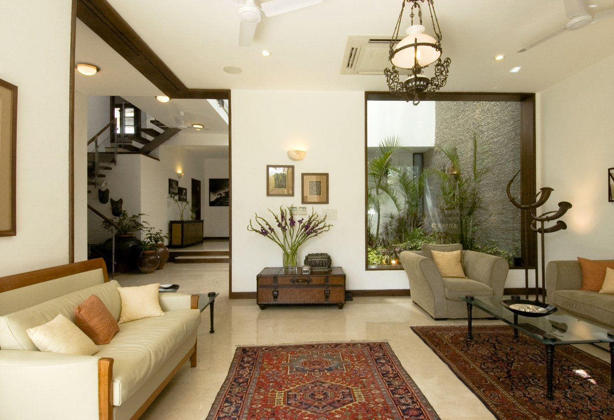 stunning award winning living room interiors | Living Room With Wooden Sofa Lemon Sofa And Traditional ...